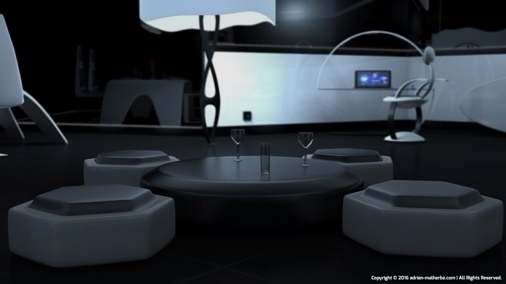 Futuristic sitting room