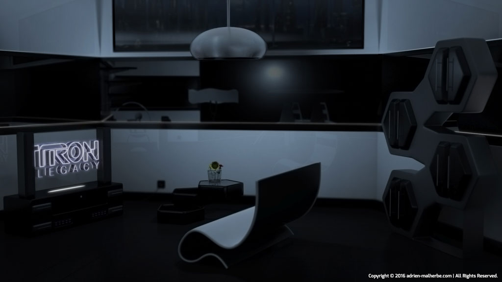 Futuristic TV room